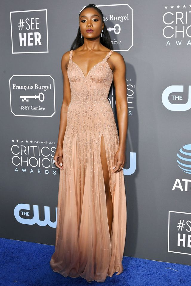 Kiki Layne Critics' Choice Awards Red Carpet 2019