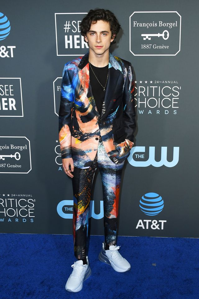 Timothee Chalamet Critics' Choice Awards Red Carpet Sneakers