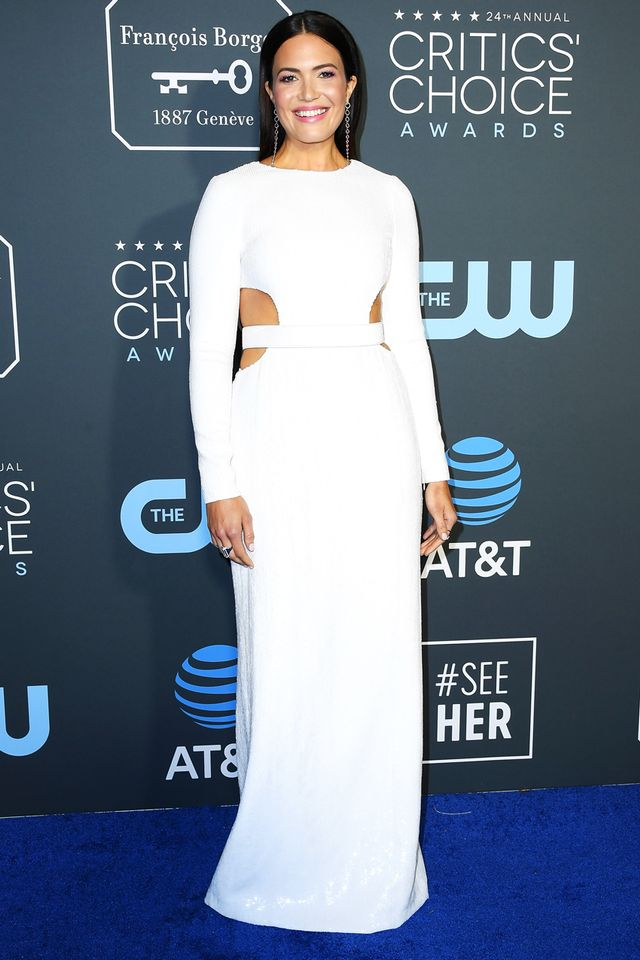 Mandy Moore Critics' Choice Awards Red Carpet