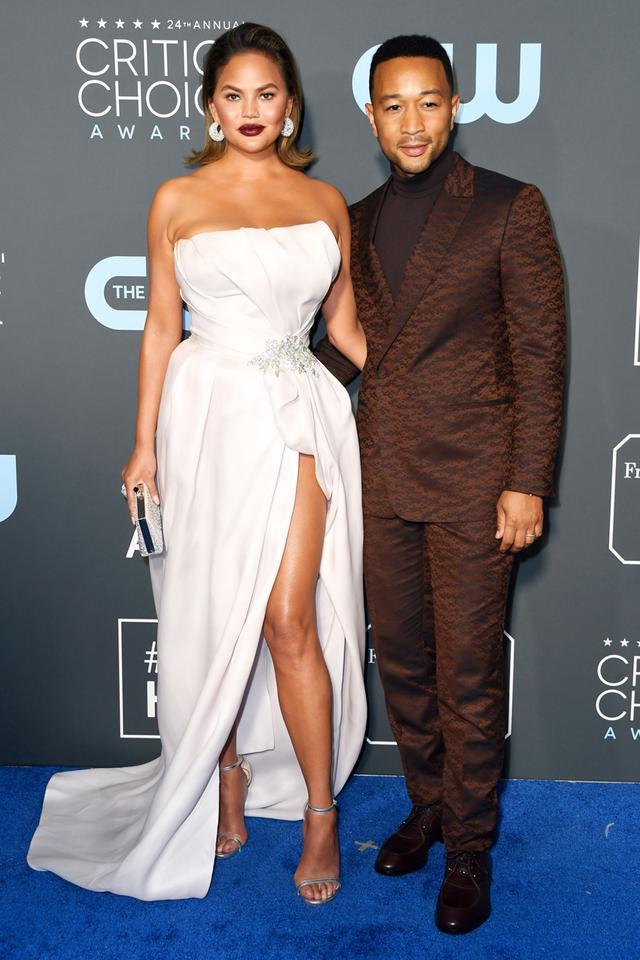 Chrissy Teigen and John Legend Red Carpet