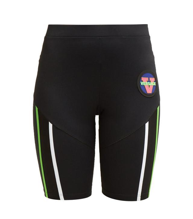 Versace Logo-Patch Technical Cycling Shorts