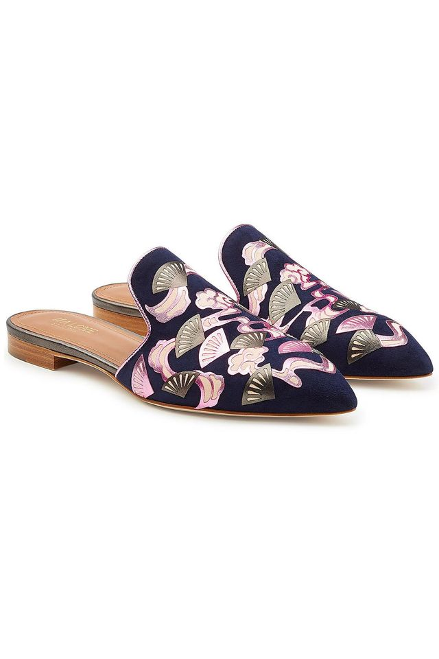 Malone Souliers Marianne Suede Slip-On Loafers