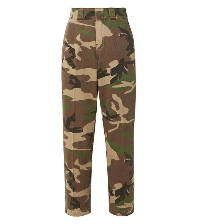 R13 Camouflage-Print Cotton-Twill Wide-Leg Pants