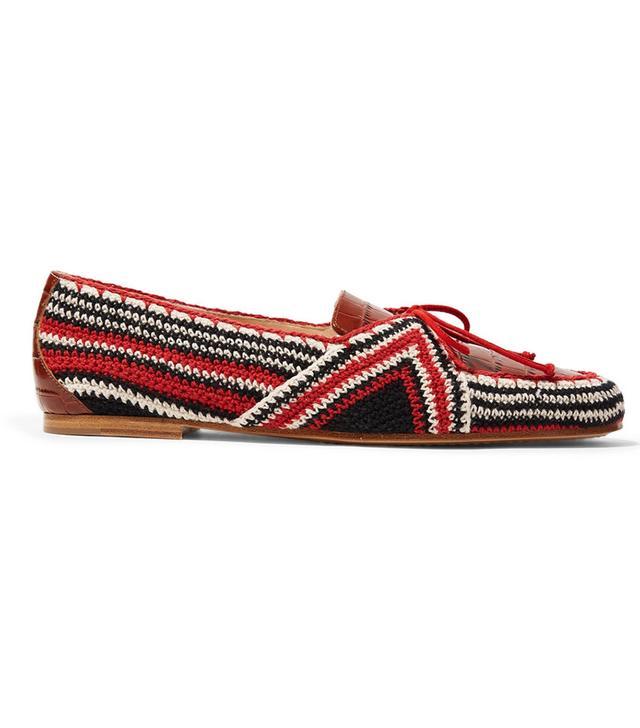 Gabriela Hearst Hays Croc-Effect Leather Loafers