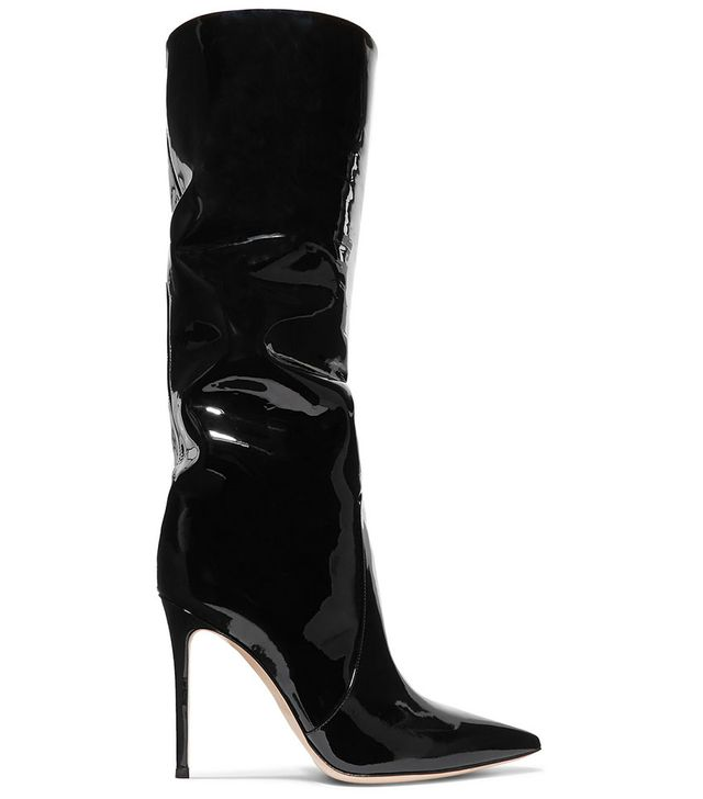 Gianvito Rossi 105 Patent-Leather Knee Boots
