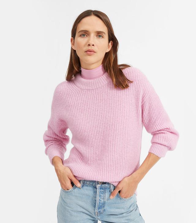 Everlane Oversized Alpaca Crew Sweater