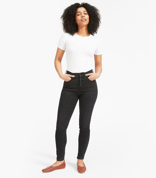 Everlane Authentic Stretch High-Rise Skinny Button Fly Jeans