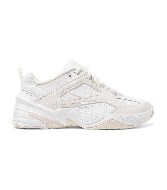 Nike M2k Tekno Leather And Neoprene Sneakers