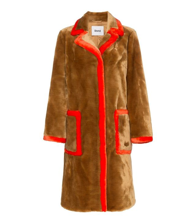 Stand Chantal Faux Fur Trimmed Teddy Coat