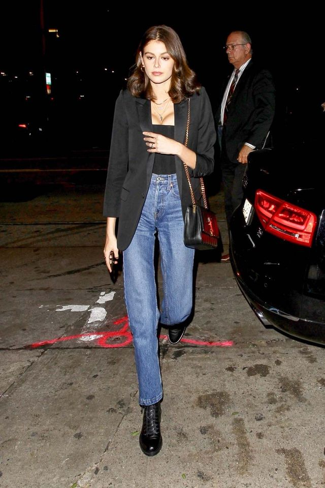 Kaia Gerber Outfit With Jeans