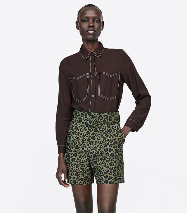 Zara Shirt With Topstitching