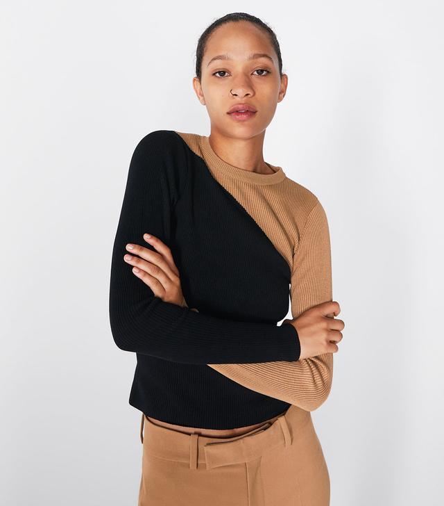 Zara Color Block Sweater