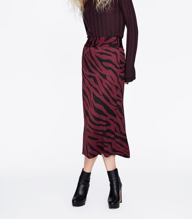 Zara Animal Print Pencil Skirt