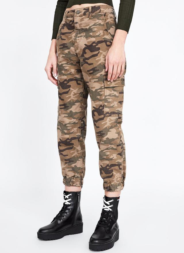 Zara Baggy Camouflage Pants