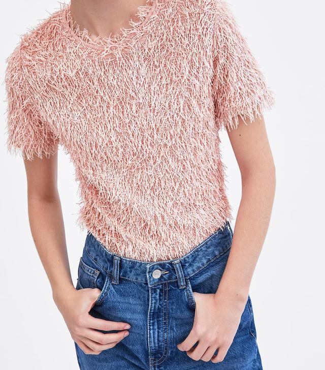 Zara Fringed T-Shirt