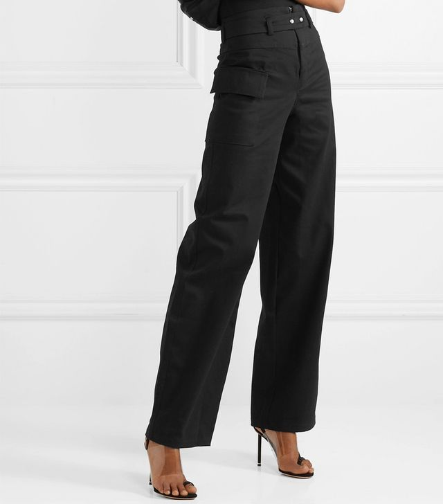 The Range Cotton-Twill Wide-Leg Rants