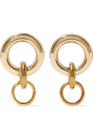 Laura Lombardi Mini Porta Gold-Tone Earrings