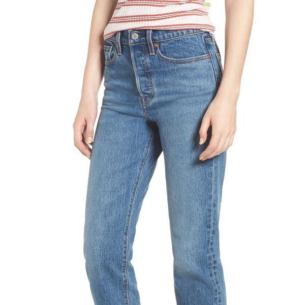 Levi's Women's Levi's Wedgie Raw Hem High Waist Straight Leg Jeans