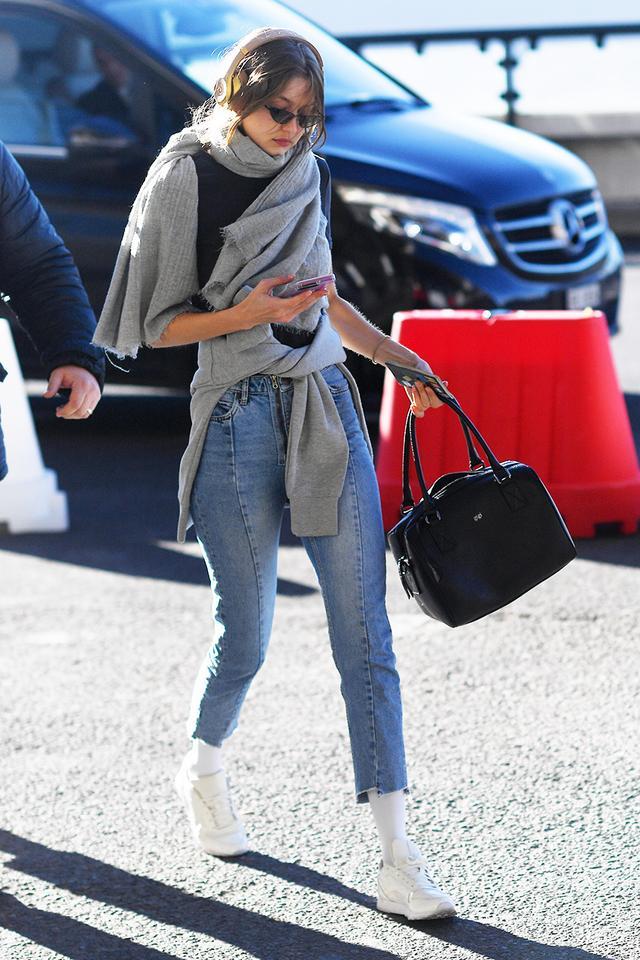 Gigi Hadid travel style