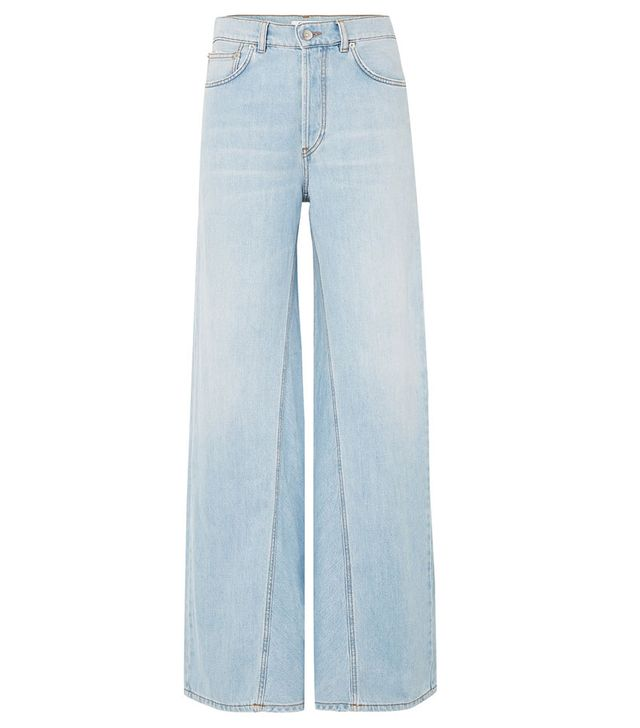 Ganni Sheldon High-Rise Wide-Leg Jeans