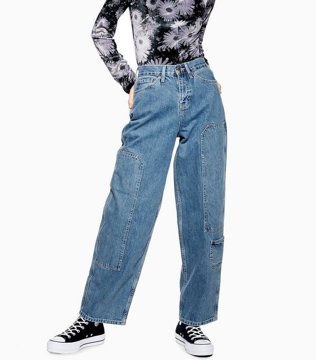 Topshop Cargo '90s Baggy Jeans