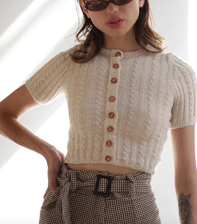 Tach Clothing Dalia Mohair Knit Top