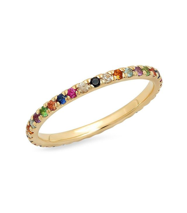 Eriness Jewelry Multi-Colored Eternity Band