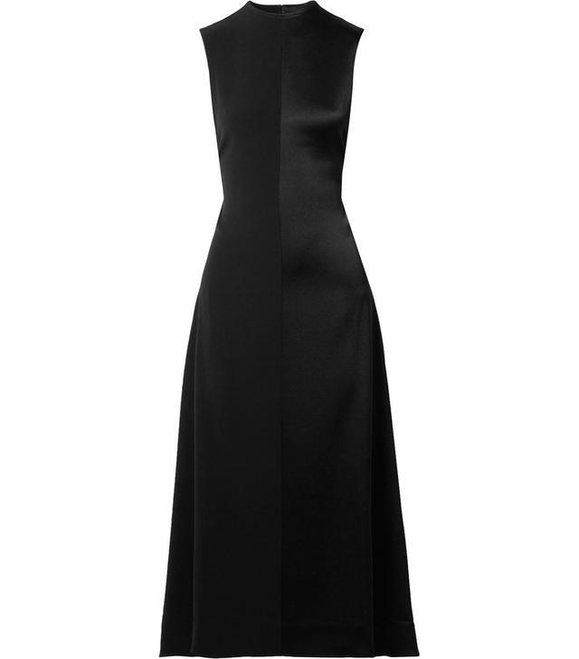 Peter Do Open-Back Satin-Crepe Midi Dress