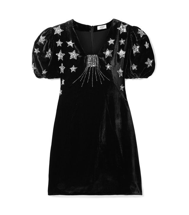 Rixo London Bambi Sequin-Embellished Velvet Mini Dress