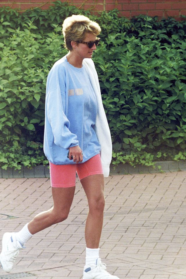 Princess Diana bike shorts outfits
