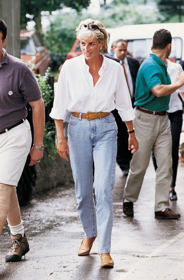 Princess Diana jeans outfits
