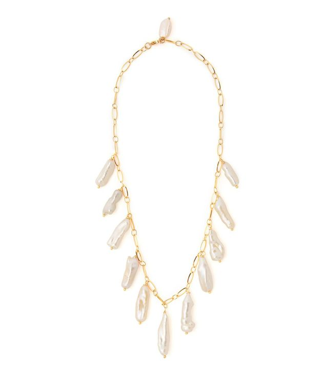 Timeless Pearly Baroque Pearl-Drop Necklace
