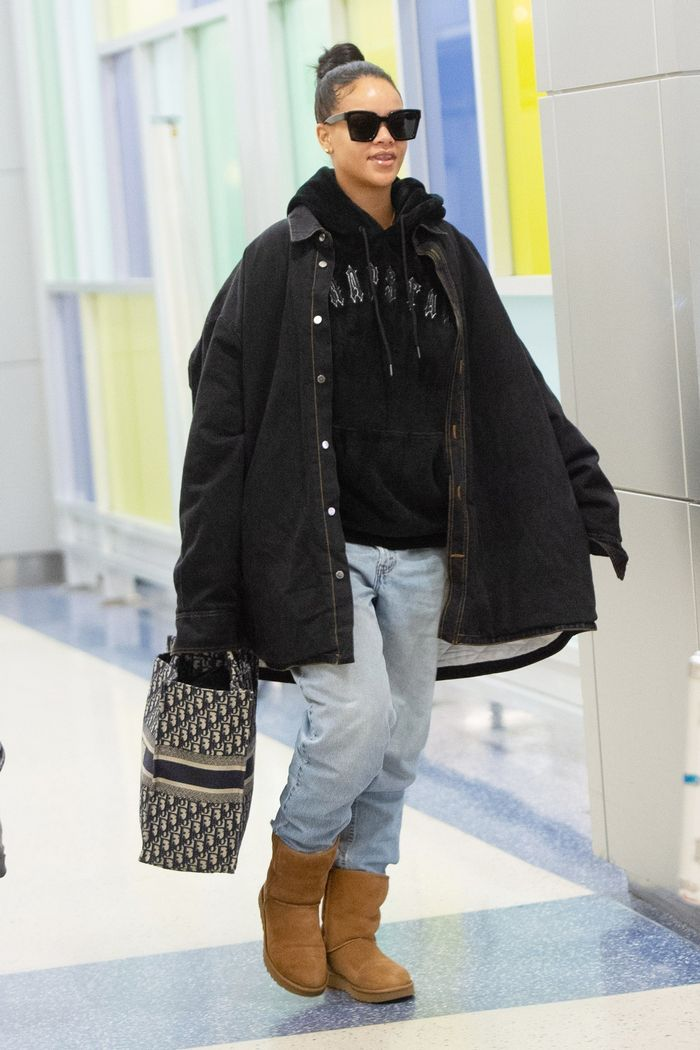 b2a46e928c7 Rihanna Styled Ugg Boots to Perfection at the Airport | Who What Wear