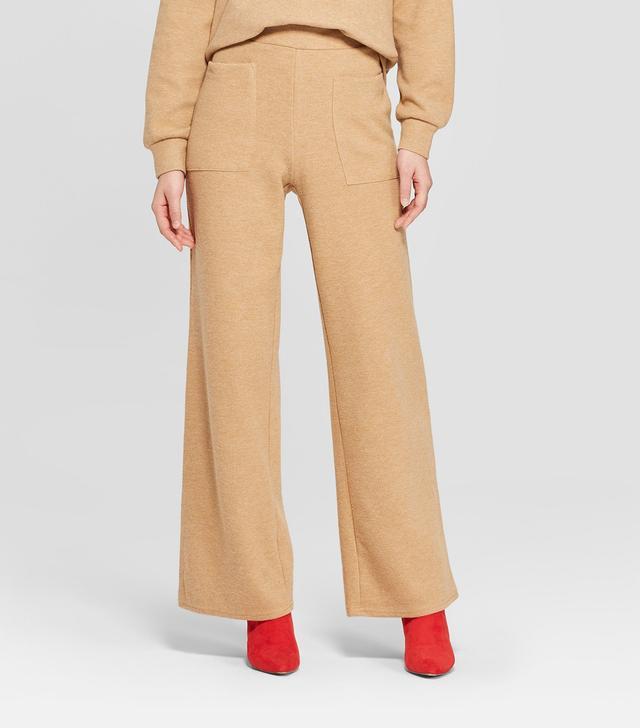 Who What Wear Cozy Wide-Leg Pants