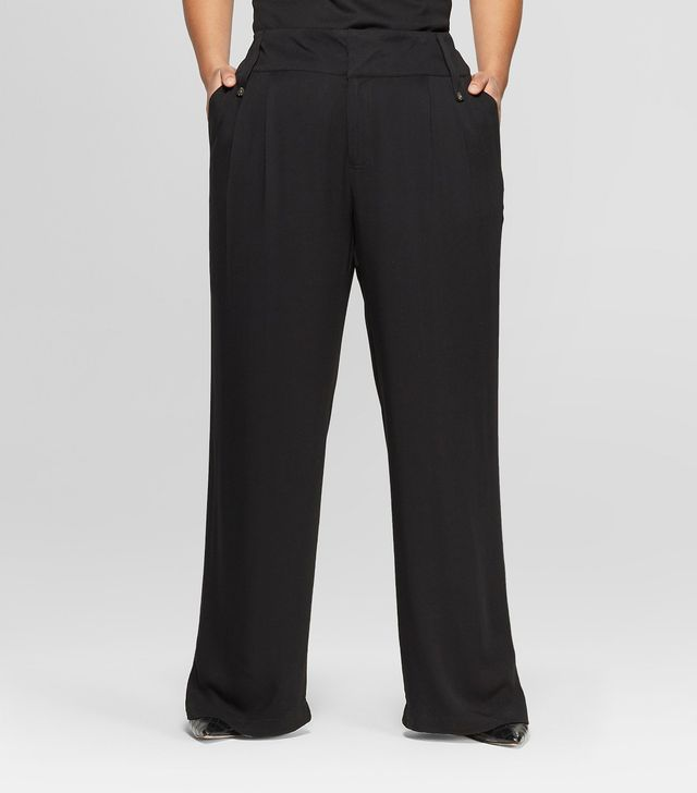 Who What Wear Straight-Leg Oversize Pocket Pants