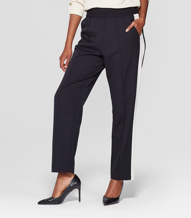 Who What Wear Side Striped Ankle Trousers