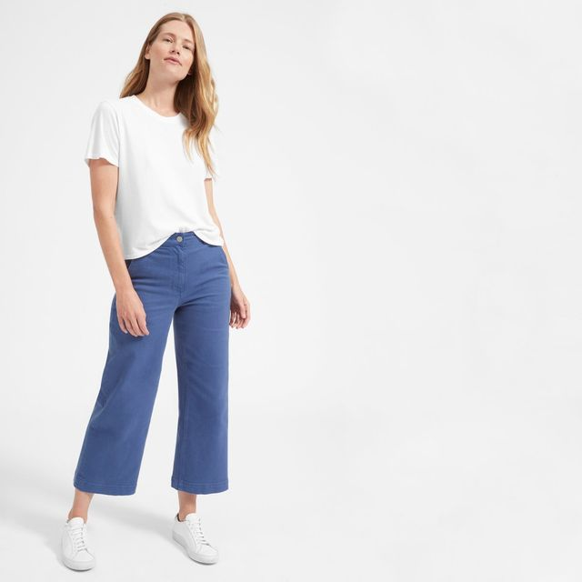 Everlane Cotton Box-Cut T-Shirt by Everlane in White