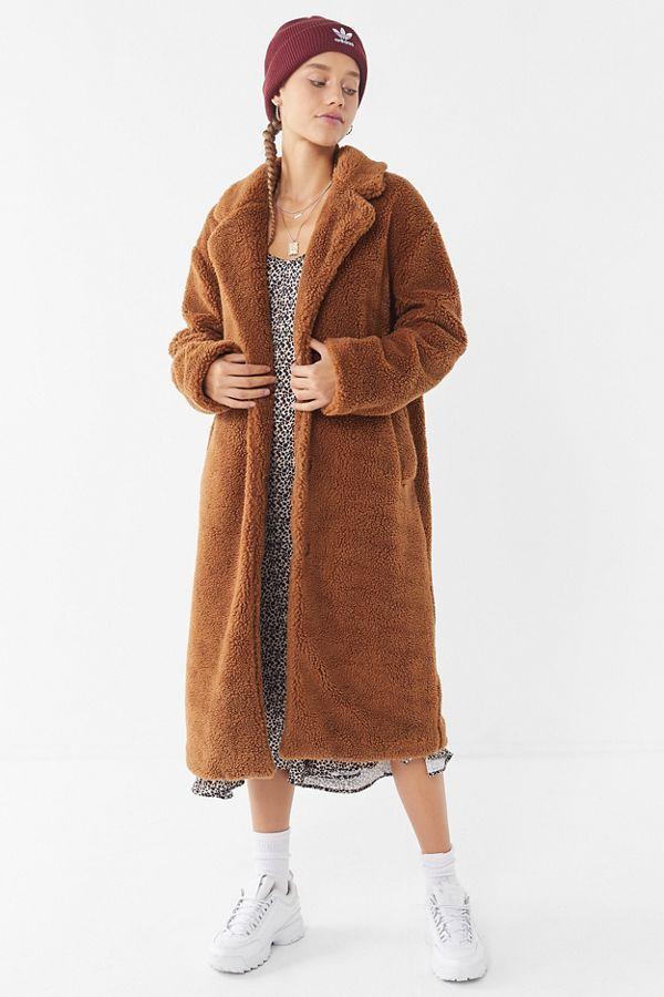 Urban Outfitters UO Teddy Duster Coat
