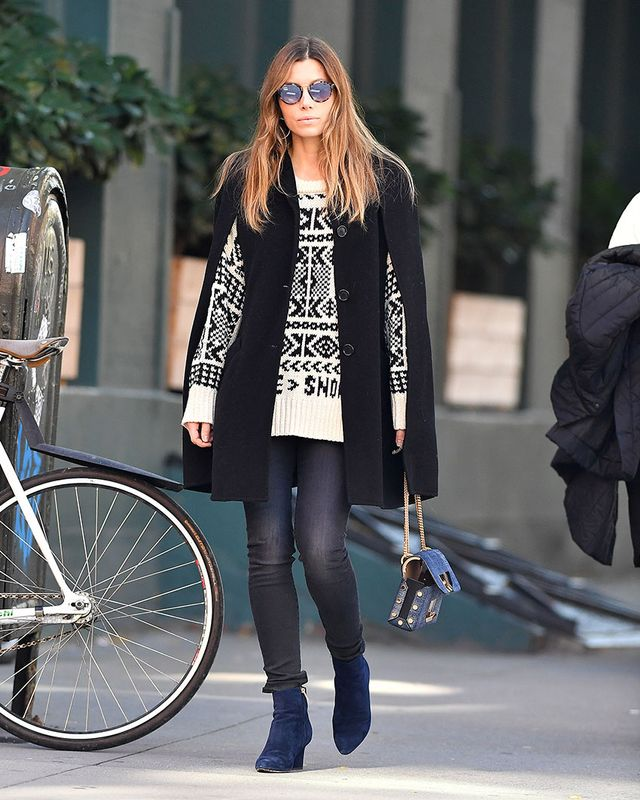 Jessica Biel Ankle Boot Styling Mistake