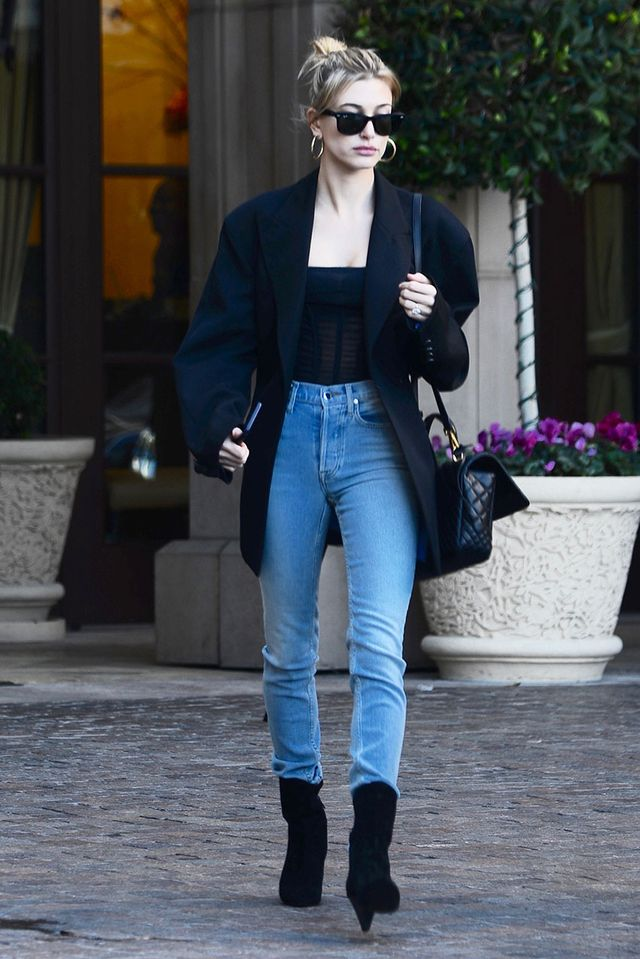 Hailey Baldwin Ankle Boot Styling Mistake