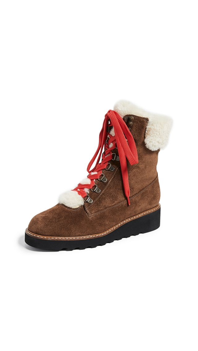 Veronica Beard Vale Hiker Shearling Boots