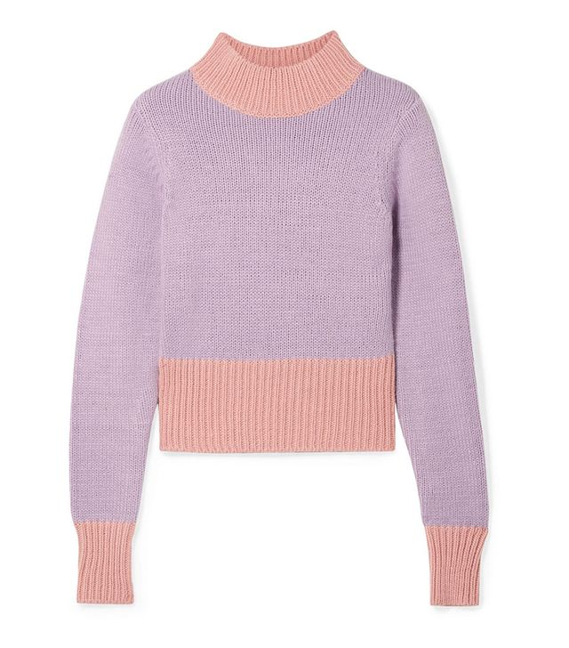 Staud Two-Tone Knitted Sweater
