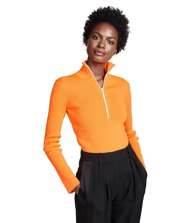 Tibi Track Zip Up Pullover