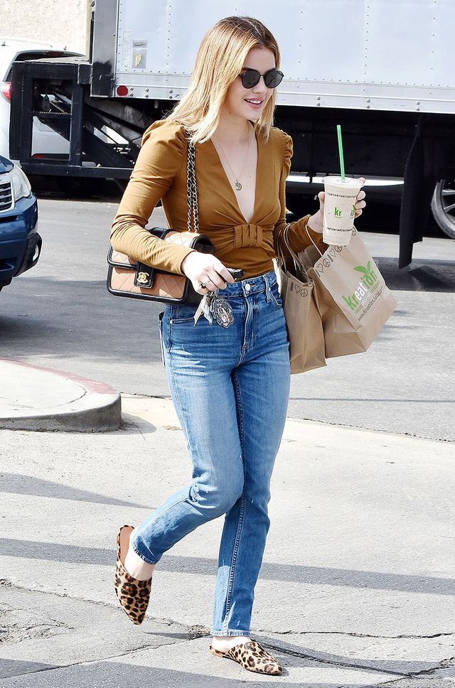 Celebrity Trends to Wear With Skinny Jeans: Leopard Shoes