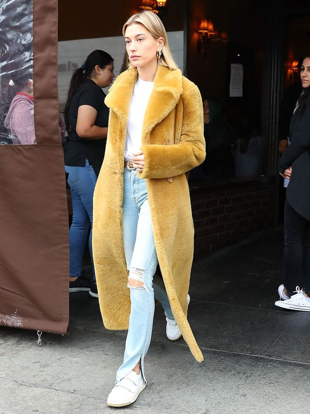 Celebrity Trends to Wear With Skinny Jeans: Furry Coats