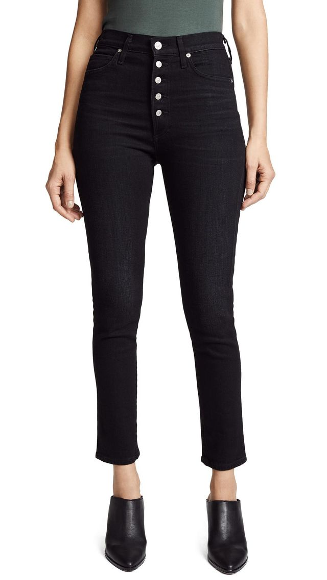 Citizens of Humanity Olivia Exposed Fly High Jeans in Licorice