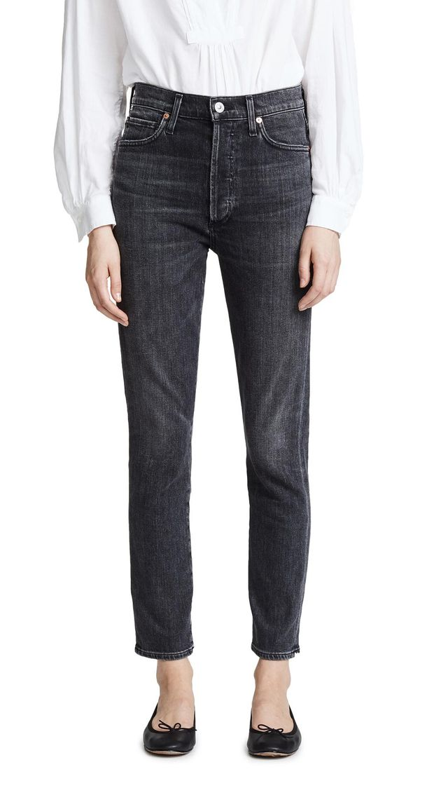 Citizens of Humanity Olivia High Rise Slim Ankle Jeans in Wren