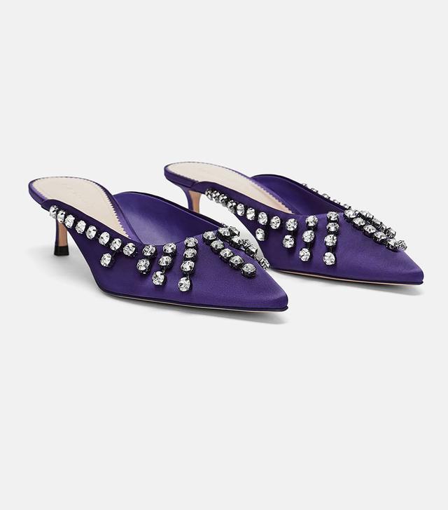 Zara Embellished Mules