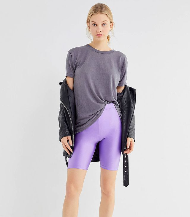 Urban Outfitters Disco High-Rise Pull-On Bike Shorts
