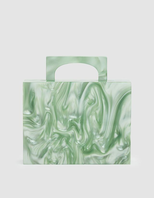 Valet Studio Alexa Resin Bag in Green